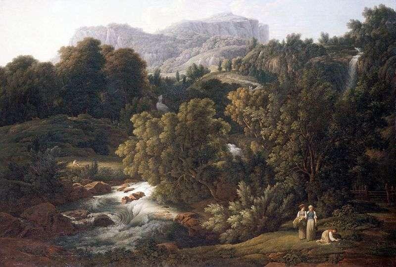 Górski krajobraz   Josef Anton Koch