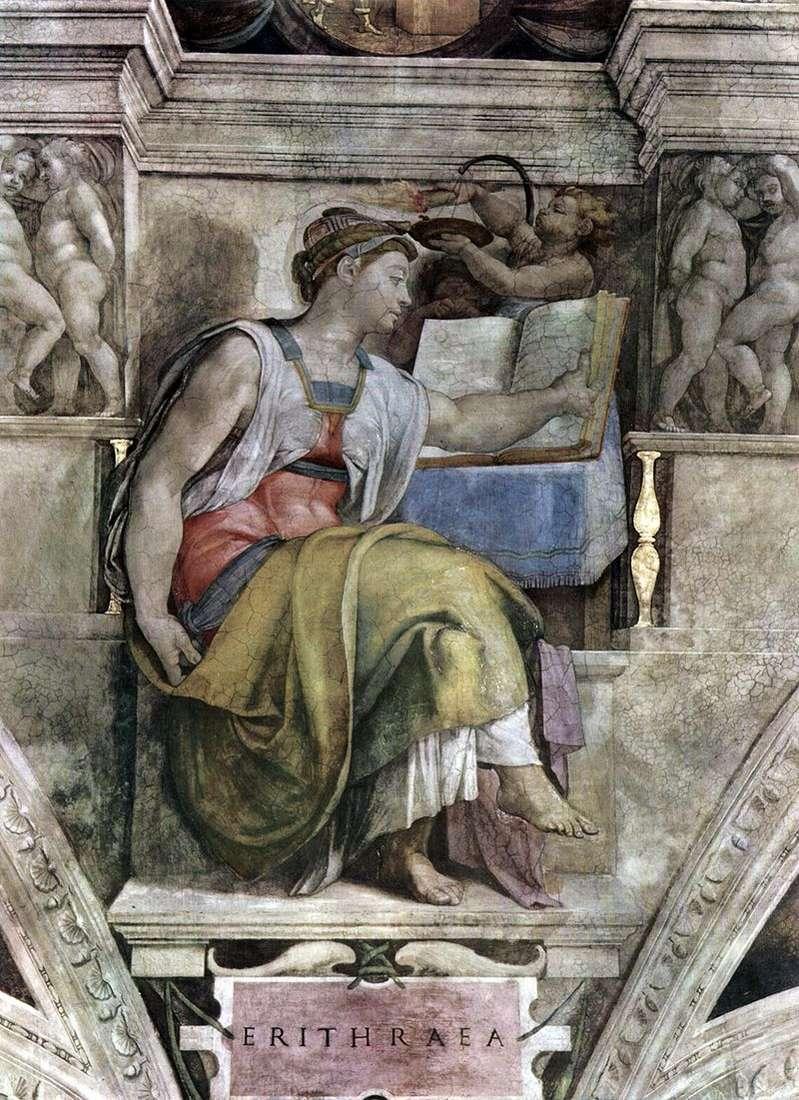 Eritrean Sibyl (fresco)   Michelangelo Buonarroti
