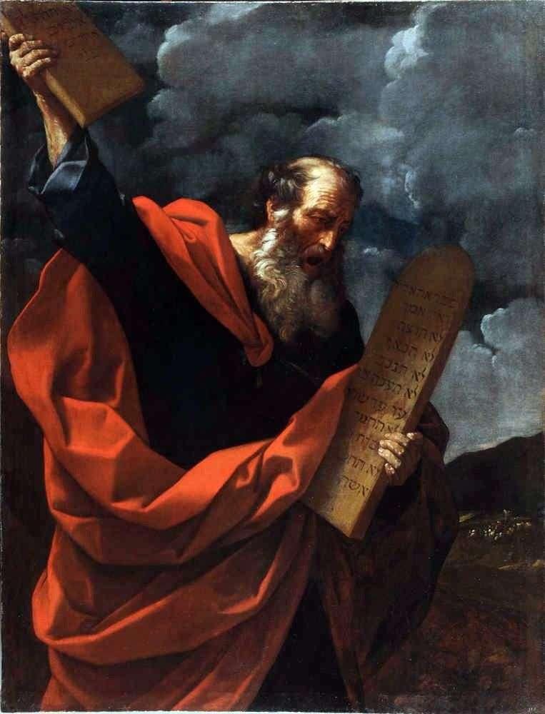 Mojżesz z Tablicami Prawa   Guido Reni