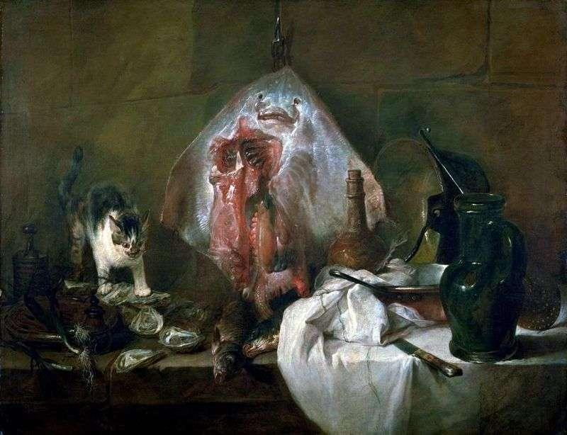 Skat   Jean Baptiste Simeon Chardin