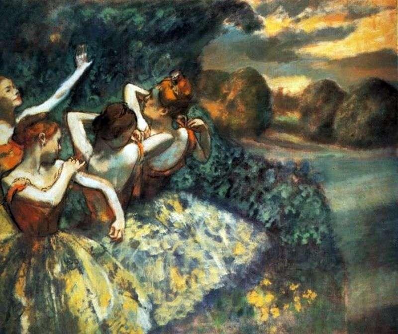 Czterech tancerzy   Edgar Degas