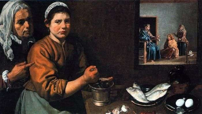 Chrystus w domu Marty i Marii   Diego Velasqueza