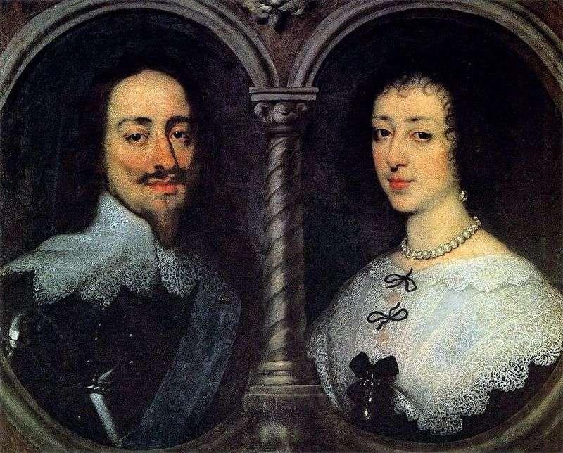 Portret Charlesa I Henrietty Marii   Anthonyego Van Dycka