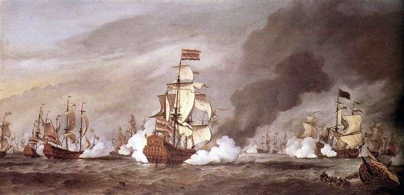 Bitwa pod Texel   Willem van de Velde