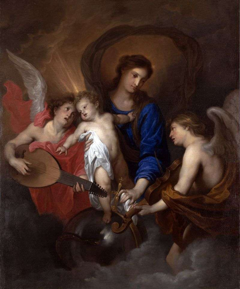 Madonna i dziecko z aniołami   Anthony Van Dyck