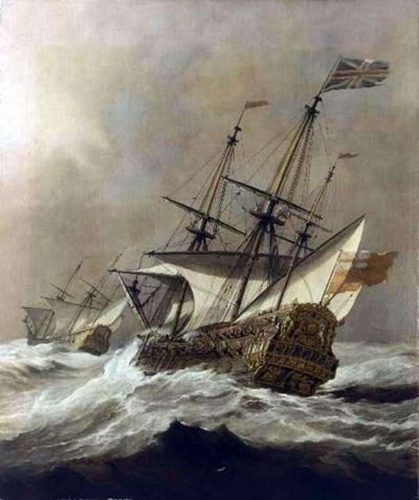 Statek w burzy   Willem van de Velde