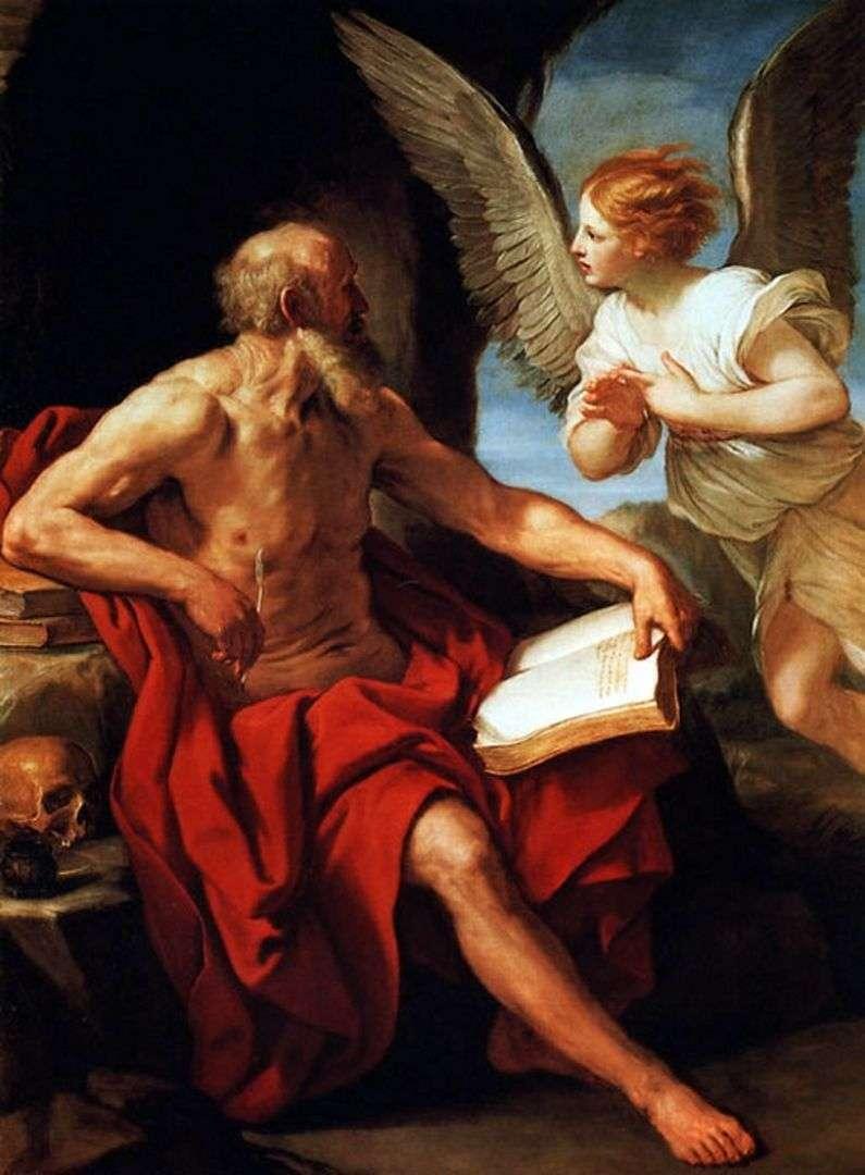 Święty Hieronim i Anioł   Guido Reni