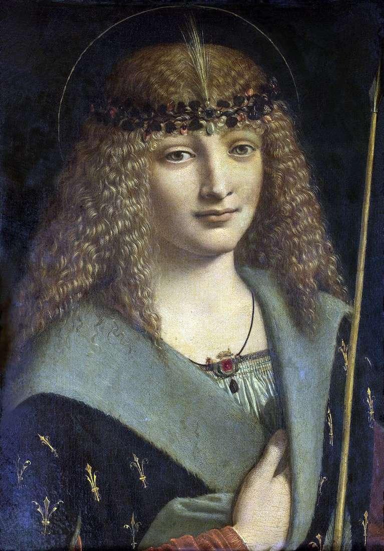 Portret młodego mężczyzny na obrazie św. Sebastiana   Antonio Boltraffio