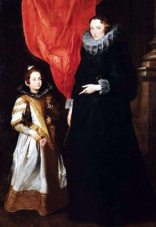 Portret Jer Own Brignole Sale z córką Marią Aurelia   Anthony Van Dyck