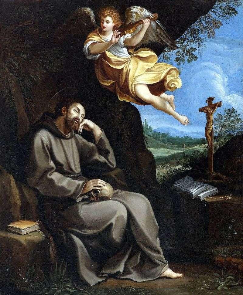 Święty Franciszek i Anioł   Guido Reni