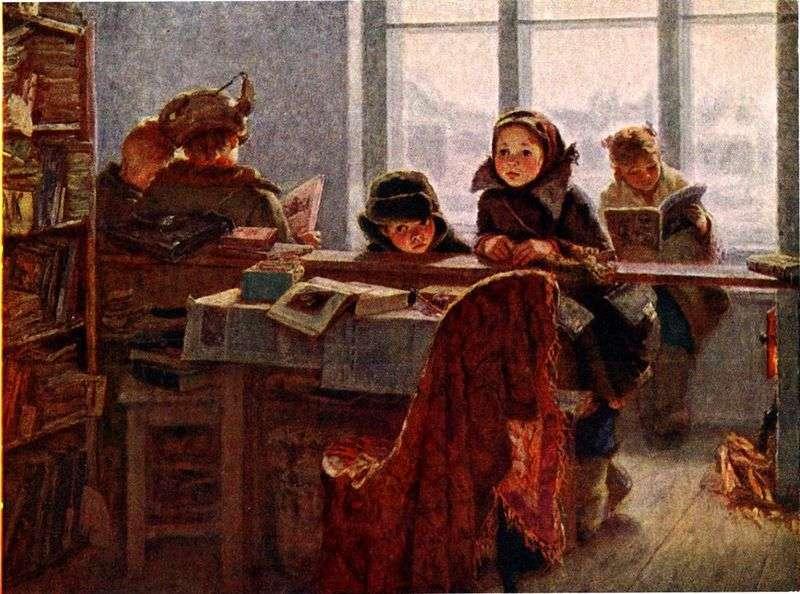 W wiejskiej bibliotece   Irina Shevandronova