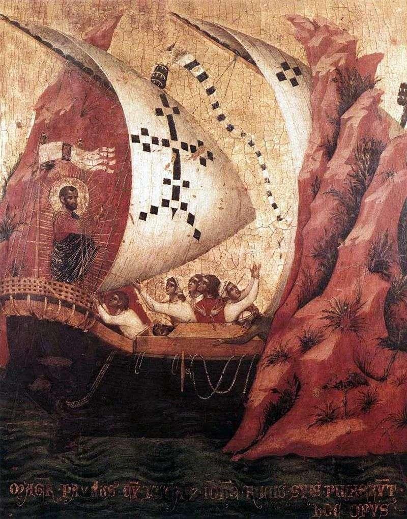 Św. Marek uspokaja morze   Paolo Veneziano