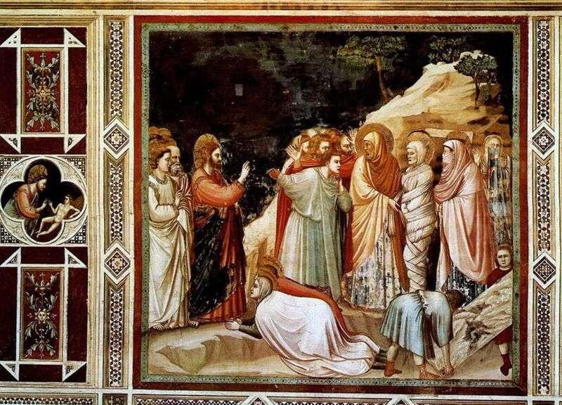 Zmartwychwstanie Łazarza   Giotto di Bondone