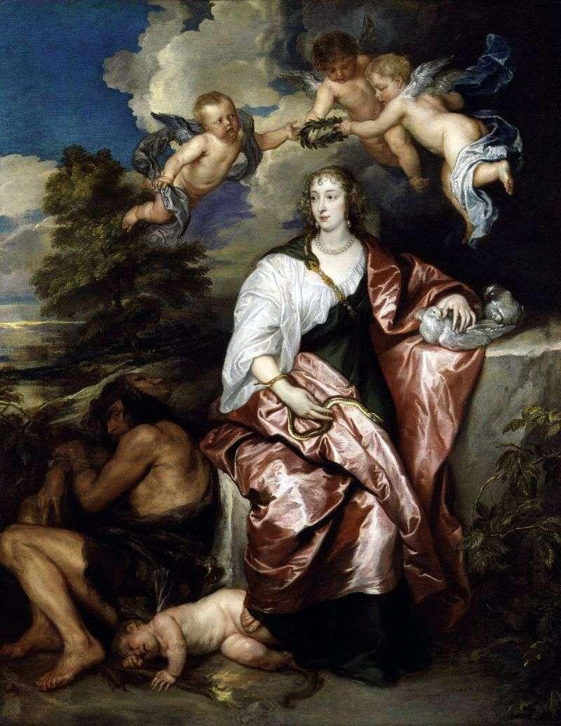 Portret Damy Wenecji Digby wcielający się w ostrożność   Anthony Van Dyck