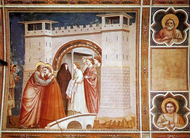 Spotkanie Anny z Joachimem przy Złotej Bramie   Giotto di Bondone