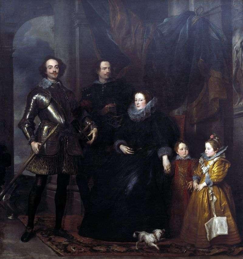 Portret rodziny Lomellini   Anthony Van Dyke