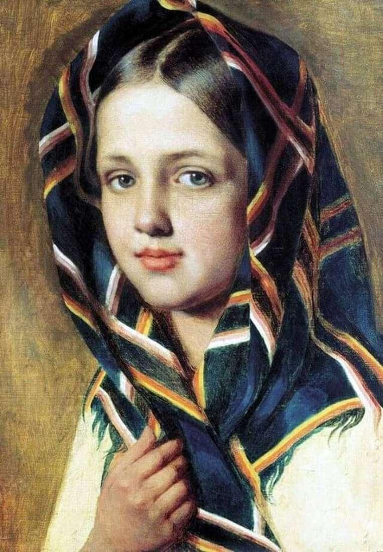 Dziewczyna w szaliku   Alexey Venetsianov