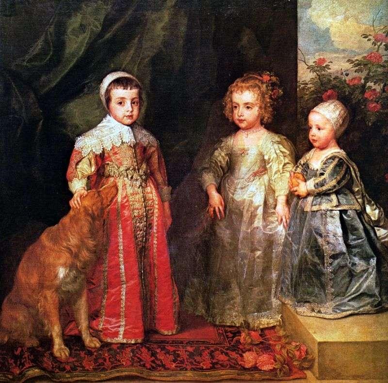 Portret trzech najstarszych dzieci Karola I   Anthonyego Van Dycka