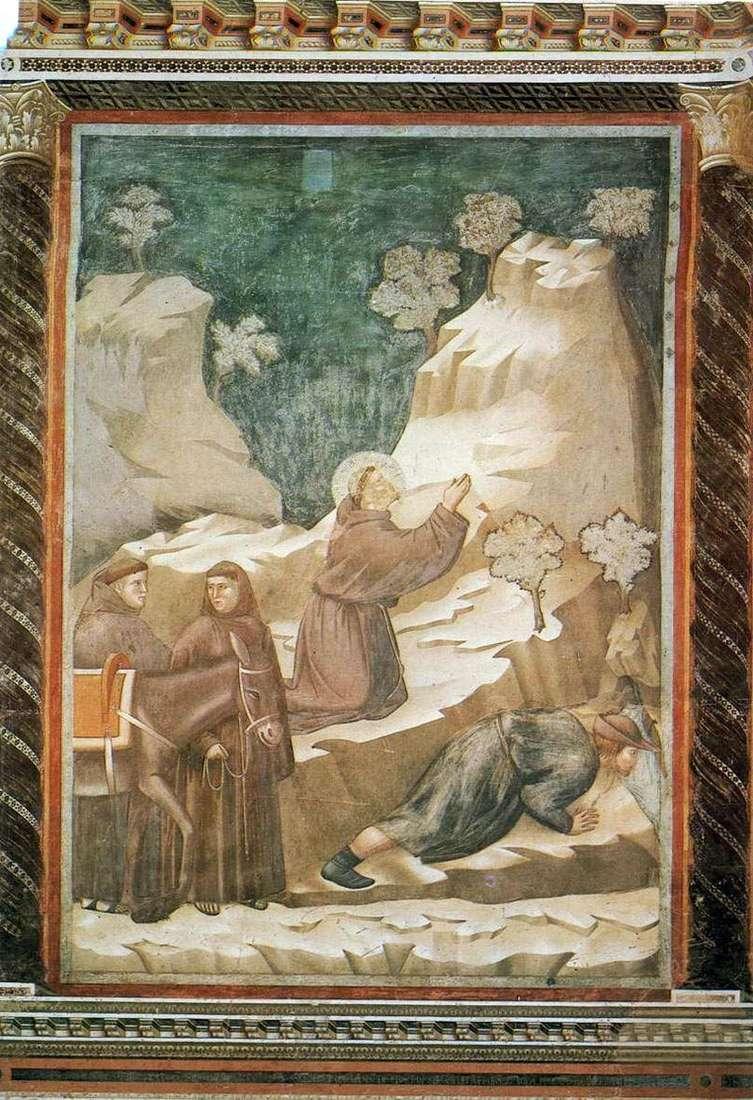 Święty Franciszek wydziela wodę z klifu   Giotto di Bondone