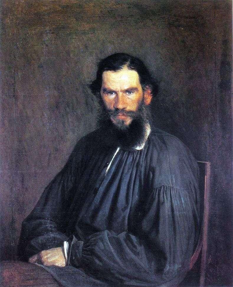 Portret L. N. Tołstoja   Iwana Kramskoja