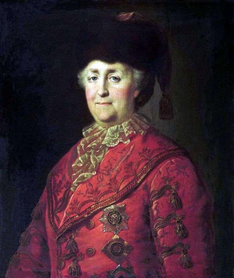 Portret Katarzyny II w garniturze drogowym   Michaił Shibanov