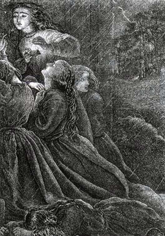 Siedem Głupich Dziewic   John Everett Millais