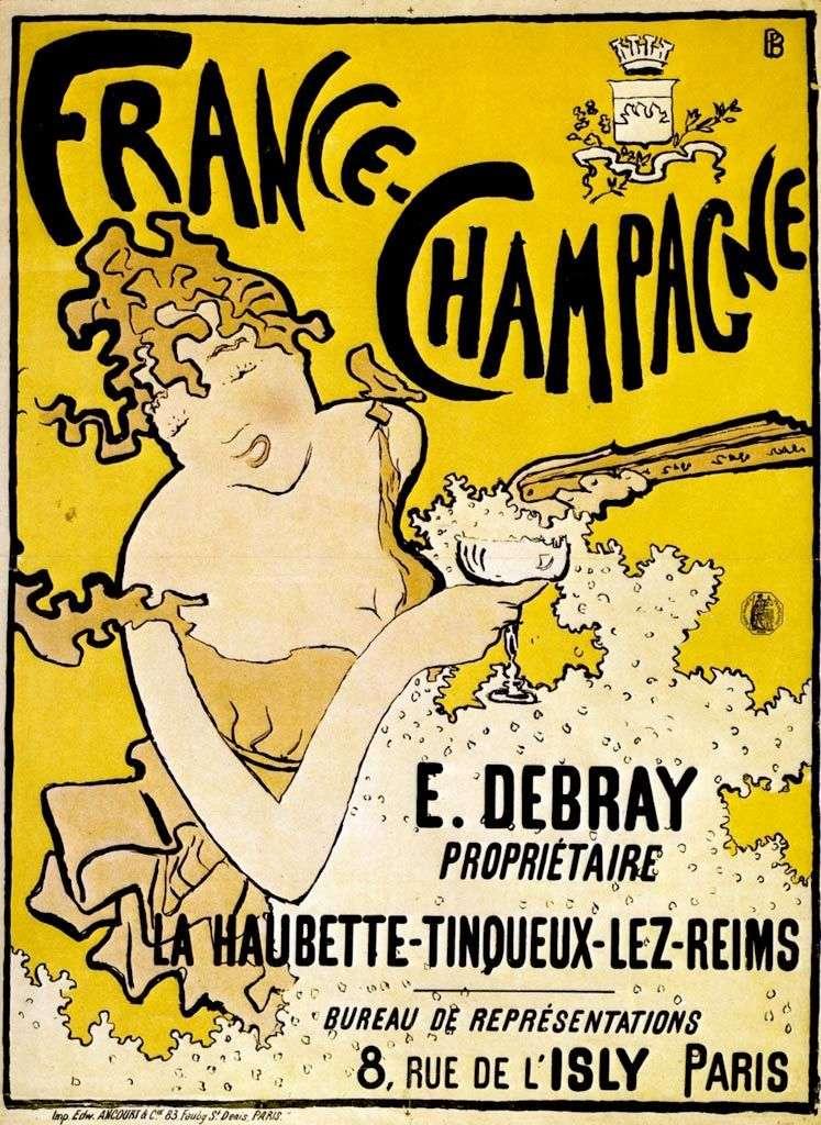 Plakat z francuskim szampanem   Pierre Bonnard