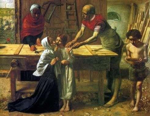 Chrystus w domu rodzinnym   John Everett Millais