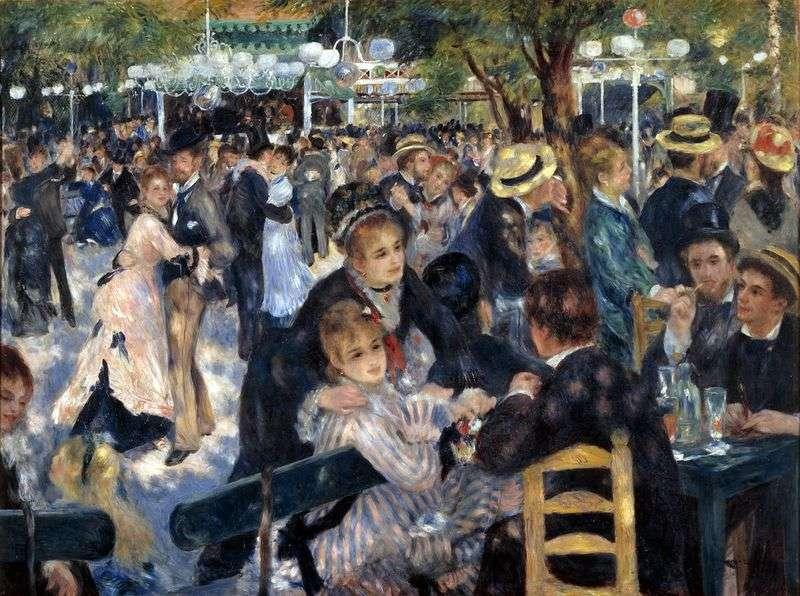 Piłka w Moulin de la Galette   Pierre Auguste Renoir