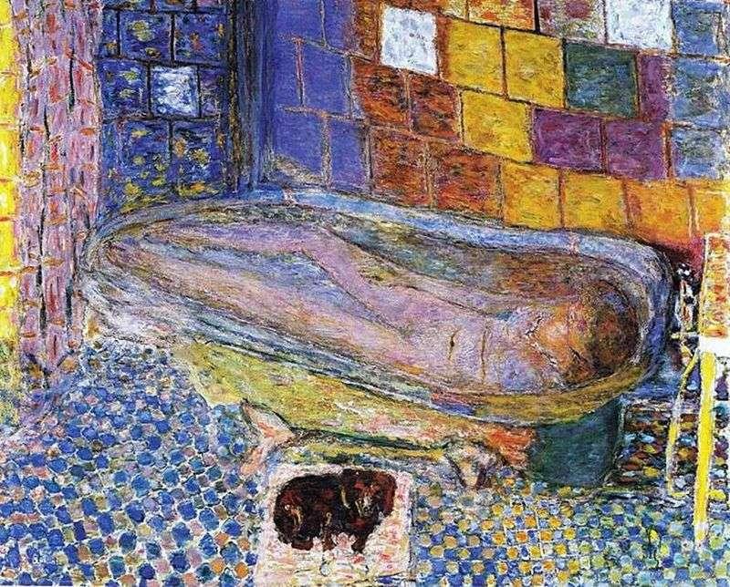 Pani z psem w kąpieli   Pierre Bonnard