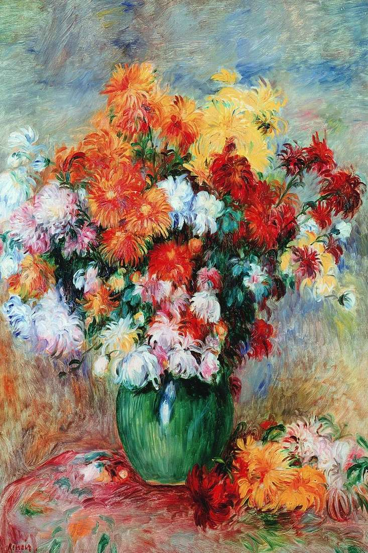 Bukiet chryzantem   Pierre Auguste Renoir