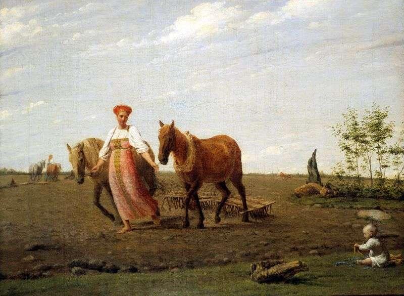 Na gruntach ornych. Wiosna   Alexey Venetsianov