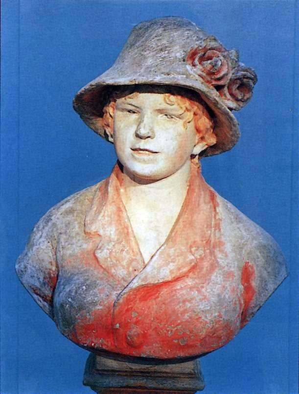 Popiersie żony Renoira, Aliny   Pierre Auguste Renoir