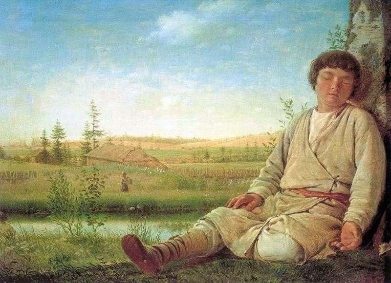 Śpiący Pasterz   Alexey Venetsianov