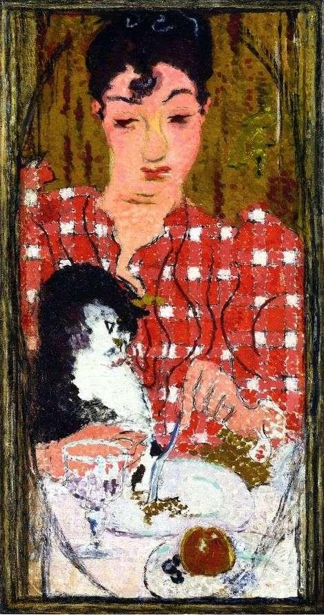 Bluzka w kratkę   Pierre Bonnard