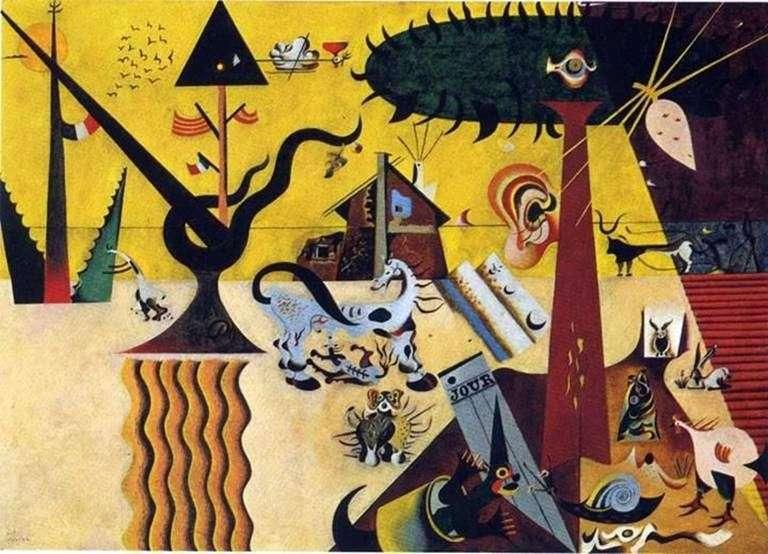 Zaorane pole   Joan Miro
