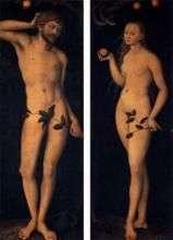 Adam i Ewa   Lucas Cranach