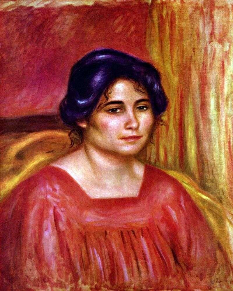 Gabriel w czerwonej bluzce   Pierre Auguste Renoir