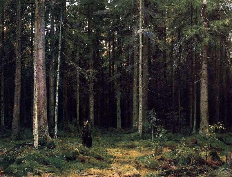 W lesie hrabiny Mordvinova. Peterhof   Ivan Shishkin