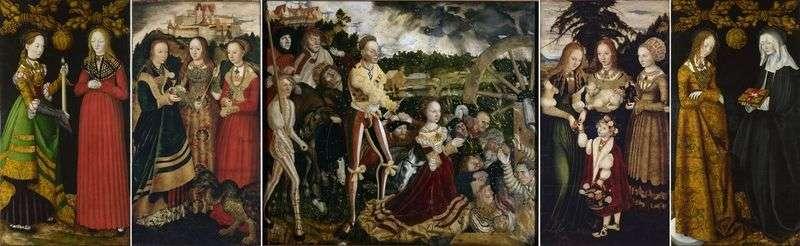Ołtarz św. Catherine   Lucas Cranach