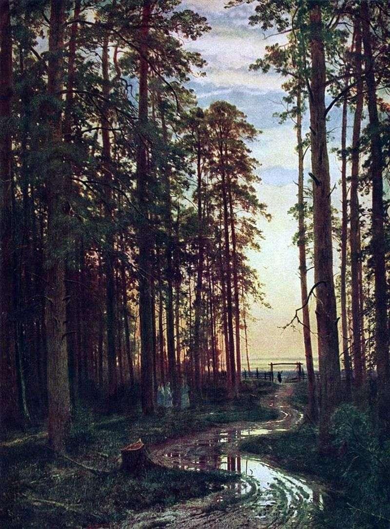Wieczór w sosnowym lesie   Iwan Szyszkin