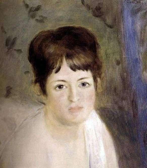 Głowa kobiety   Pierre Auguste Renoir