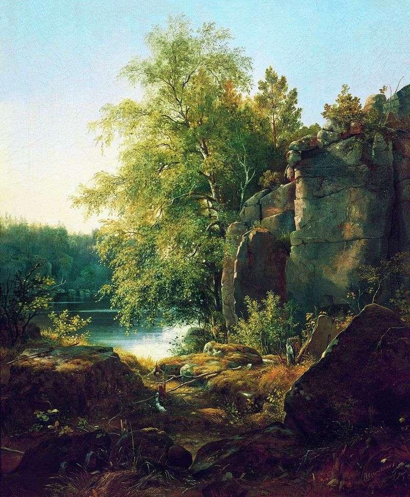 Widok na wyspę Valaam   Iwan Szyszkin