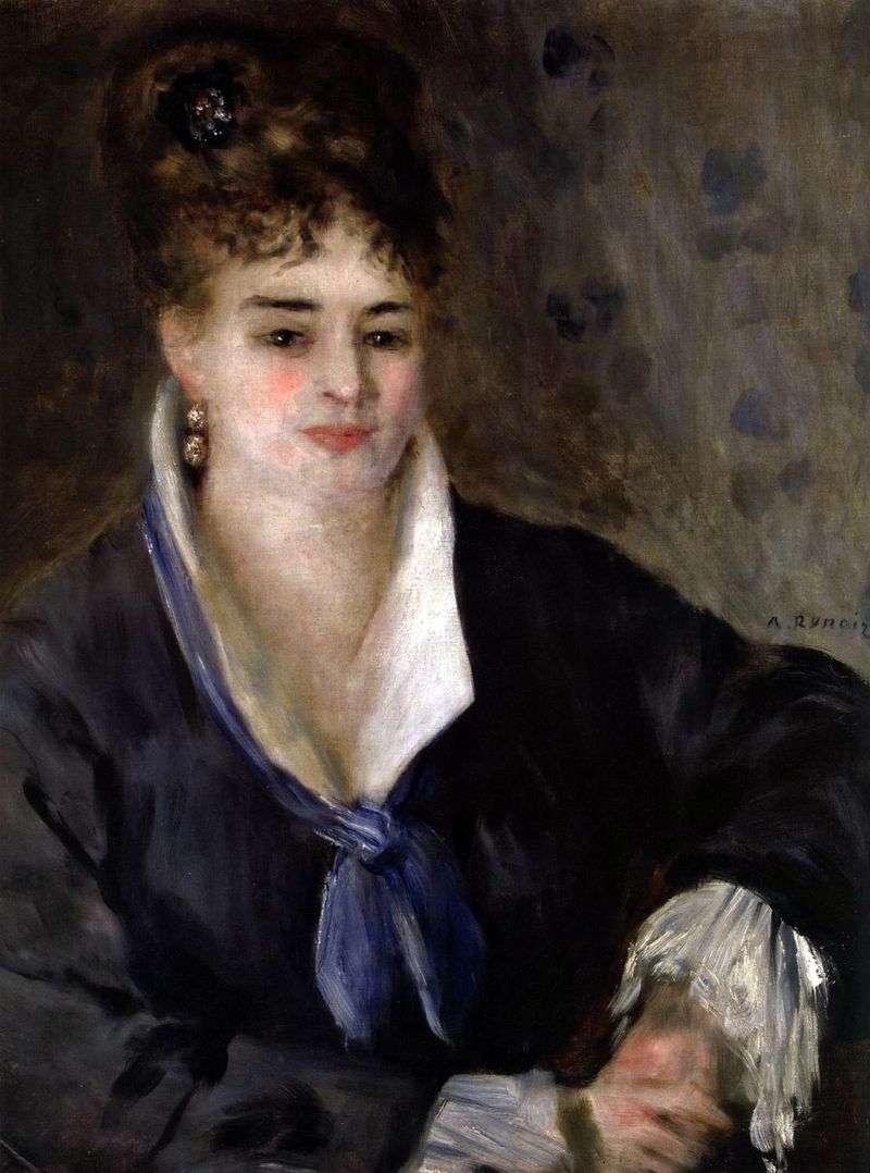 Dziewczyna w czerni   Pierre Auguste Renoir