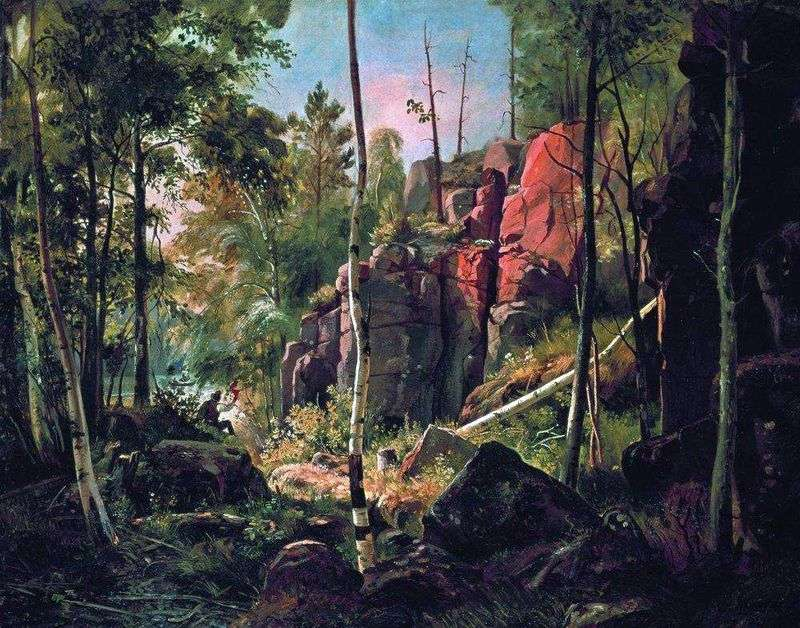 Widok na wyspę Valaam (obszar Kukko)   Iwan Szyszkin