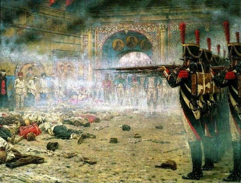 W podbitej Moskwie (podpalacze lub Strzelanie na Kremlu)   Wasilij Werechagin