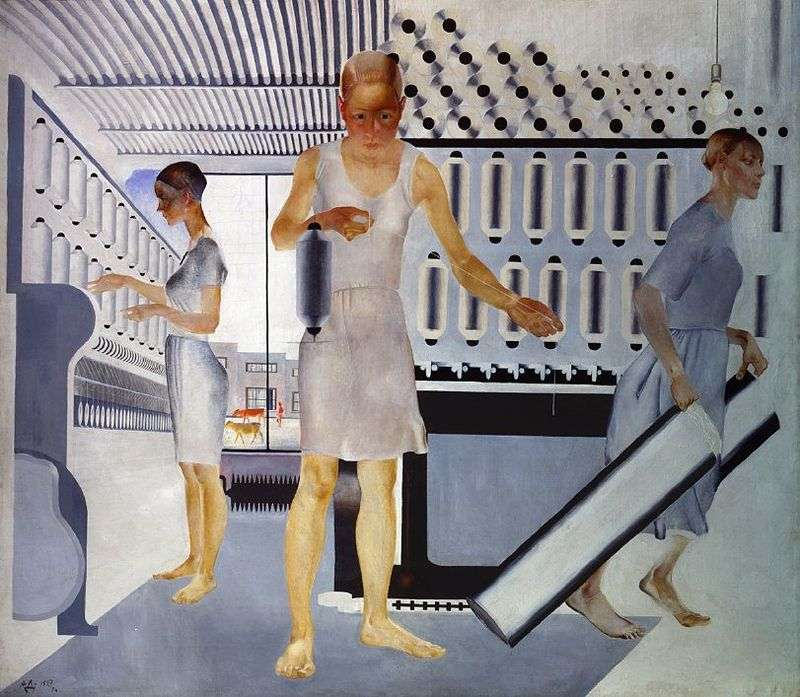 Pracownicy tekstylni   Aleksandr Deyneka