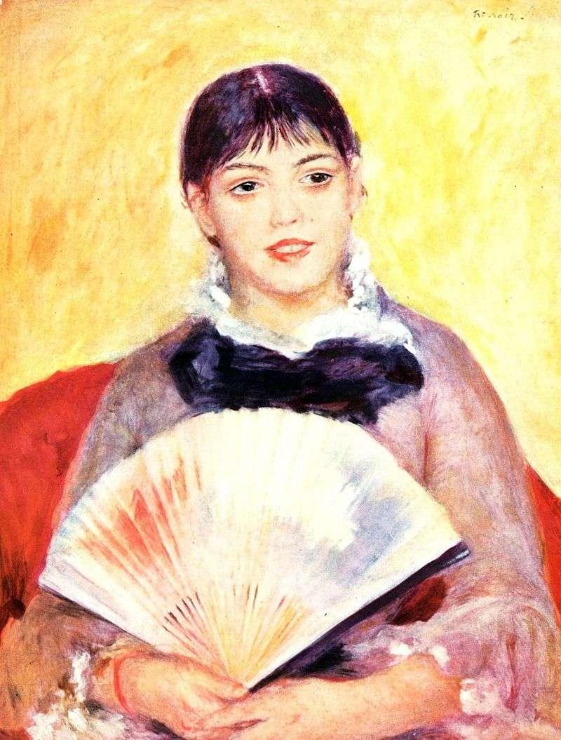Dziewczyna z fanem   Pierre Auguste Renoir