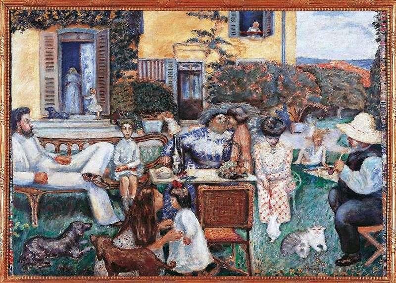 Rodzina na tarasie   Pierre Bonnard