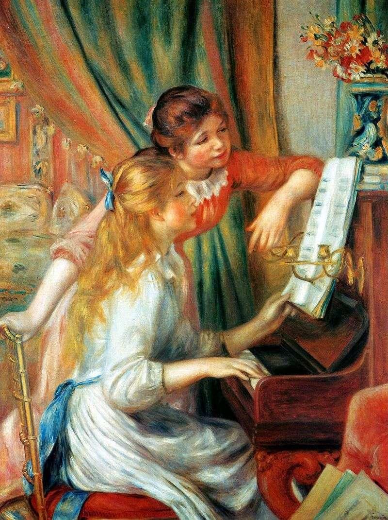Dziewczyny przy fortepianie (Dziewczyny przy fortepianie)   Pierre Auguste Renoir